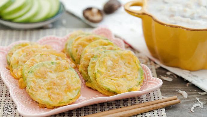 虾皮西葫芦饼&香菇滑鸡粥