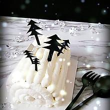 白色世界雪景蛋糕卷——日式棉花卷+超简单装饰