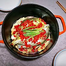 #晒出你的团圆大餐# 剁椒焖金针黄鱼