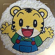 巧虎生日蛋糕-奶油霜转印