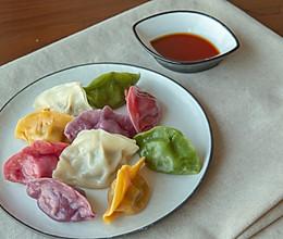 鲜香爆汁的芹菜猪肉五彩水饺的做法