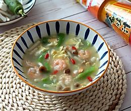 #合理膳食 营养健康进家庭# 虾仁丝瓜菌菇汤的做法