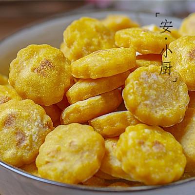 1个红薯1碗粉做外酥内软的红薯小饼,全家人都爱吃(平底锅版)