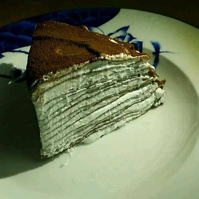 可可千层奶油蛋糕