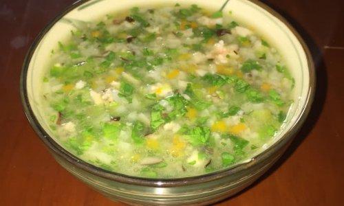 鲜虾蔬菜粥的做法