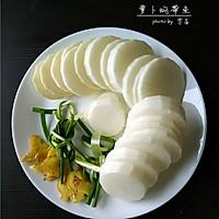 【鲜美带鱼的简单做法】萝卜焖带鱼#小妙招擂台#的做法图解3