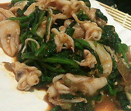 凉拌海兔菠菜的做法