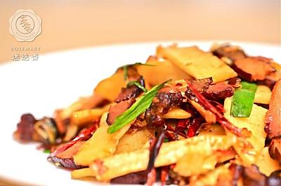 迷迭香美食| 冬笋炒腊肉