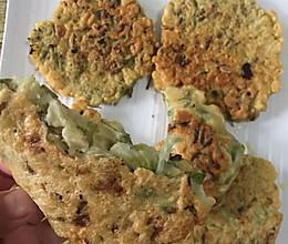 槐花摊饼的做法