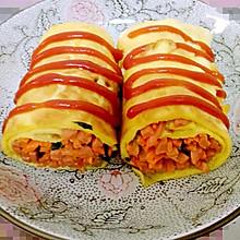 火腿胡萝卜黄瓜鸡蛋卷