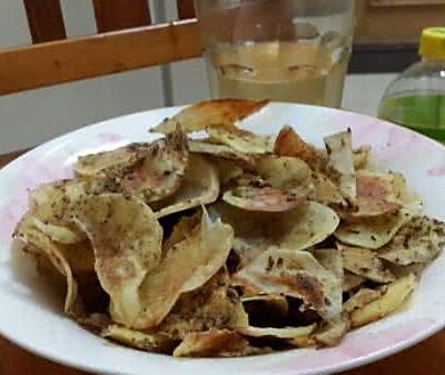 自制无油薯片