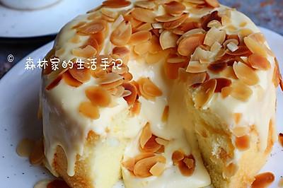 自制网红【爆浆奶盖蛋糕】超美味的冰淇淋口感