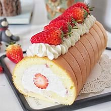 草莓奶油卷