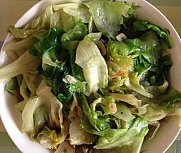 清炒圆生菜的做法