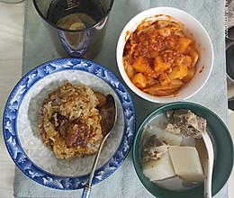 排骨糯米饭~简易版的做法