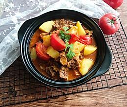 土豆番茄烧牛腩的做法