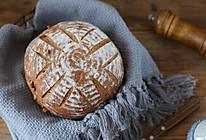 黑全麦核桃乡村面包的做法