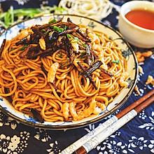 老上海开洋葱油拌面