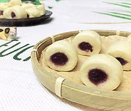 超迷你紫薯芋泥一口蒸包的做法