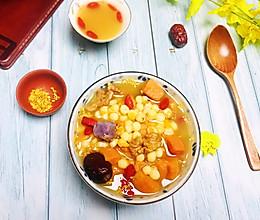 香甜弹糯·鸡头米红薯核桃粥#相聚组个局#的做法