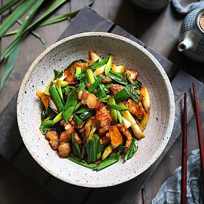 超快手的家常小炒,蒜苗炒肉,超级下饭