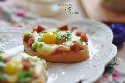 面包小披萨+#急速早餐#