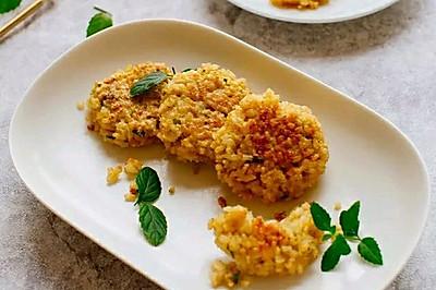 早餐:香葱鸡蛋糙米饼