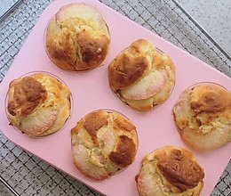 #爱乐甜夏日轻脂甜蜜#水蜜桃乳酪玛芬蛋糕的做法