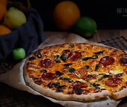 萨拉米薄底披萨的做法