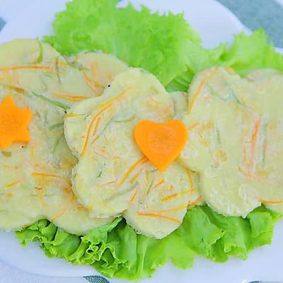 丝瓜胡萝卜银鱼饼  宝宝辅食达人