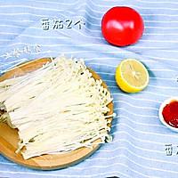 番茄金针菇汤的做法图解1