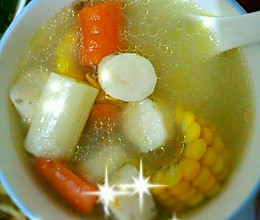 玉米山药胡萝卜汤的做法