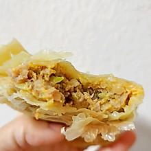 快手早餐—榨菜鲜肉饼(手抓饼版)