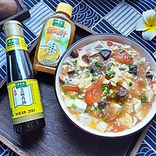 番茄香菇烩豆腐#太太乐鲜鸡汁芝麻香油#