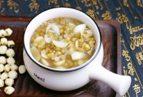 百合莲子绿豆汤的做法