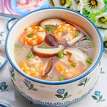 #中秋团圆食味#好喝不胖的冬瓜虾仁菌菇汤