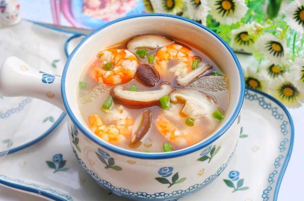 好喝不胖的冬瓜虾仁菌菇汤的做法