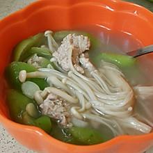 金针菇水瓜肉沫汤