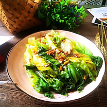 #我们约饭吧#蒜蓉蚝油生菜。