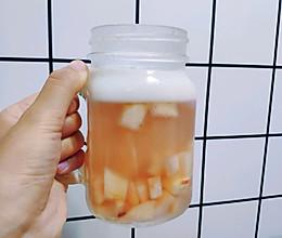 网红甜品-桃之夭夭桃冻撞奶