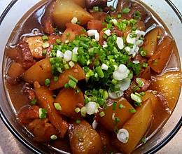 白萝卜烧肉的做法