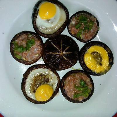 香菇聚会——香菇烤蛋,酿香菇,孜然烤香菇