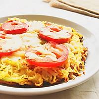 时蔬泡面披萨#小虾创意料理#的做法图解9