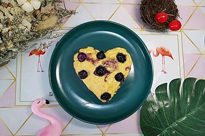 爆浆蓝莓豆腐蛋糕(减脂菜单)