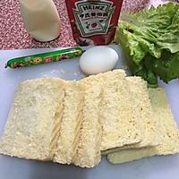 煎蛋火腿肠三明治的做法图解16