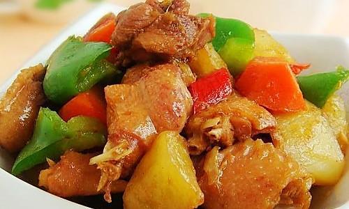 新疆大盘鸡 的做法