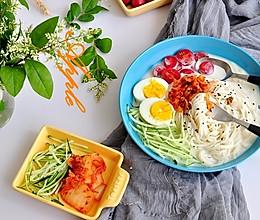 韩式豆浆面的做法