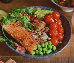 三文鱼海胆波奇饭的做法