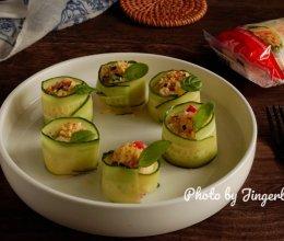 #一起土豆沙拉吧#土豆泥黄瓜卷沙拉的做法