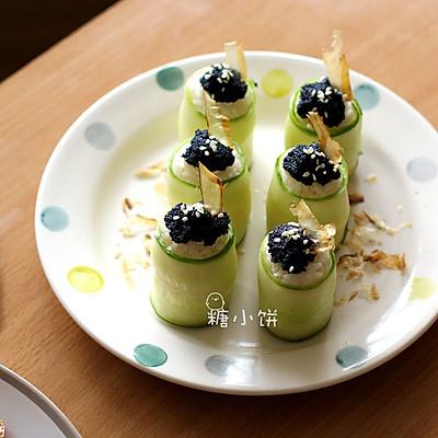 【黃瓜魚籽壽司】高溫天的清涼系主食